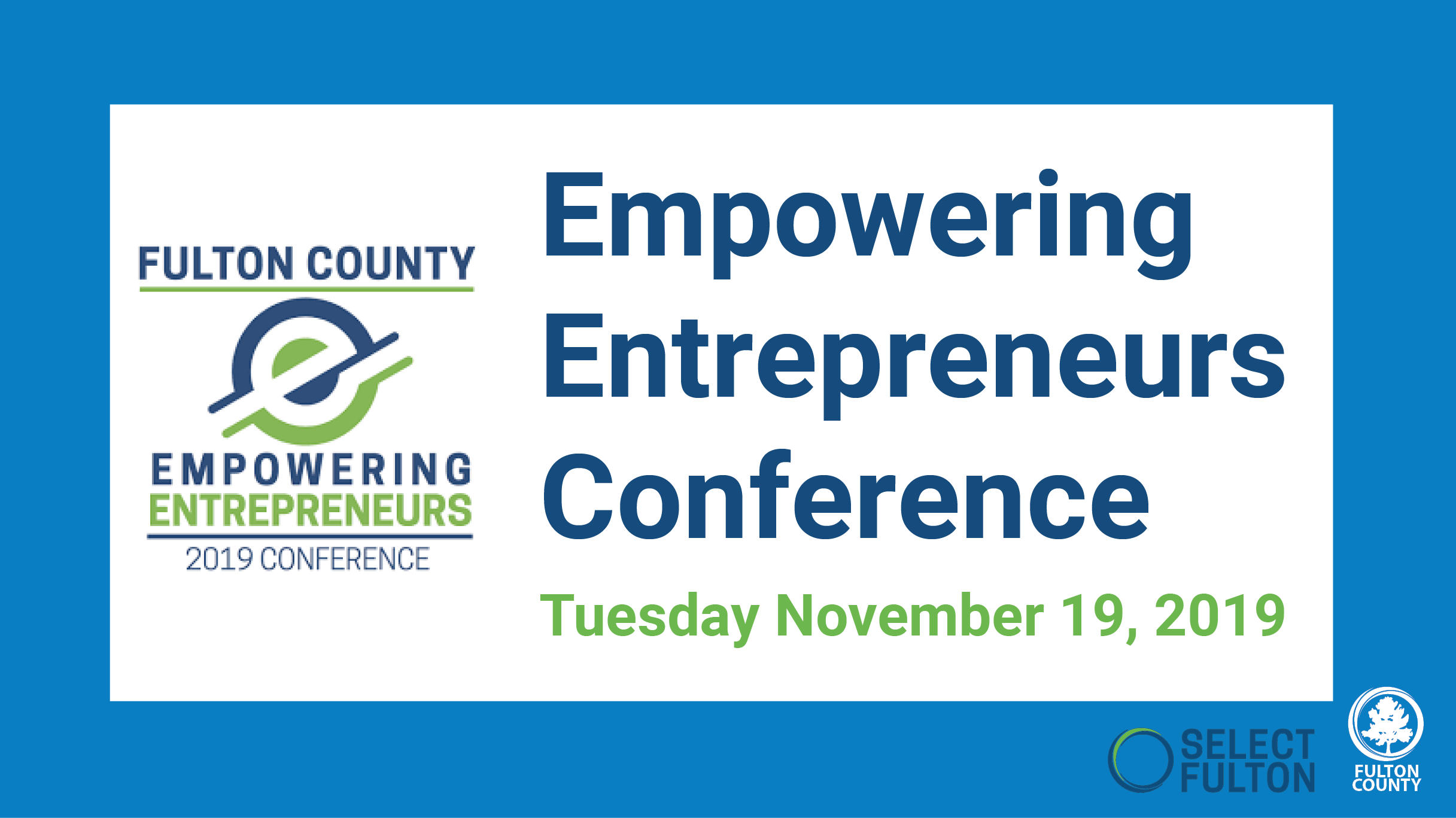 Empowering entrepreneurs conference graphic november 19